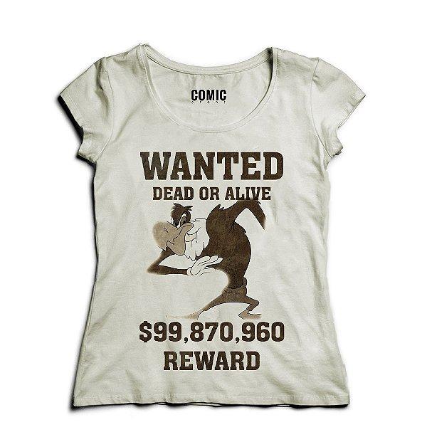 Camiseta Feminina Zeca Urubu  Reward $99.870.960 - Nerd e Geek - Presentes Criativos