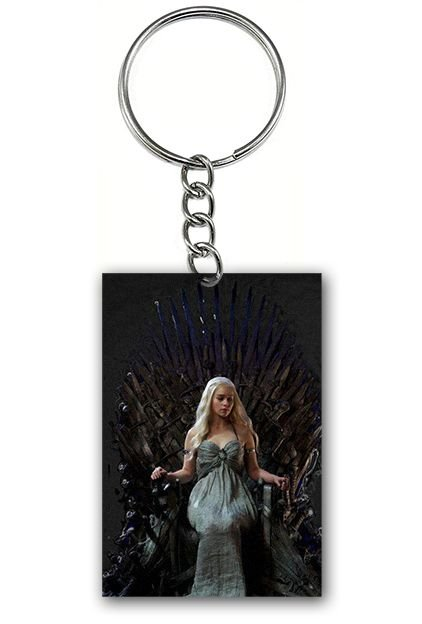 Chaveiro Game of Thrones - Daenerys Targaryen - Nerd e Geek - Presentes Criativos
