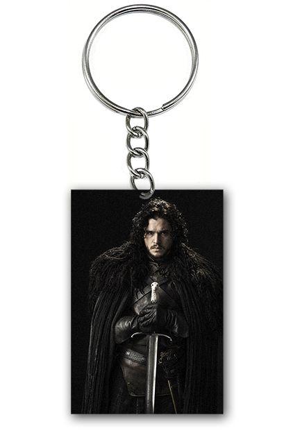 Chaveiro Game of Thrones - Jon Snow - Nerd e Geek - Presentes Criativos