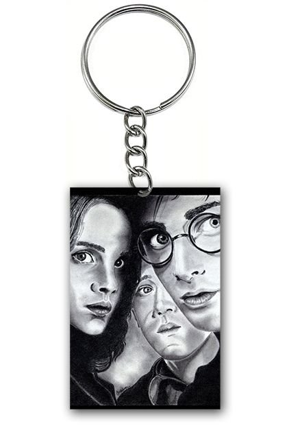 Chaveiro Harry Potter, Hermione e Ronald - Nerd e Geek - Presentes Criativos