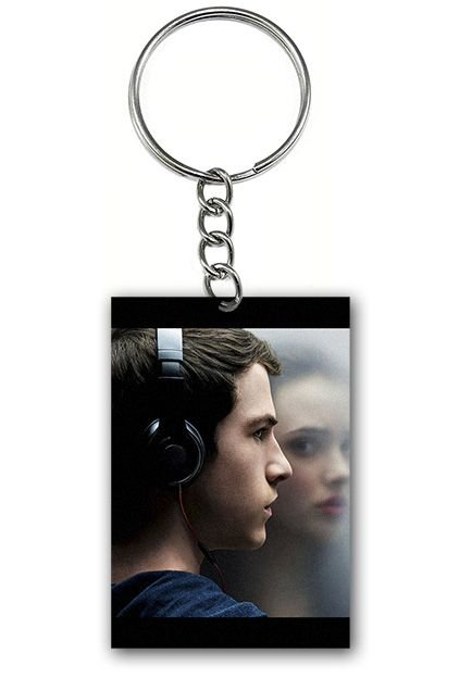 Chaveiro 13 Reasons Why - Serie - Nerd e Geek - Presentes Criativos