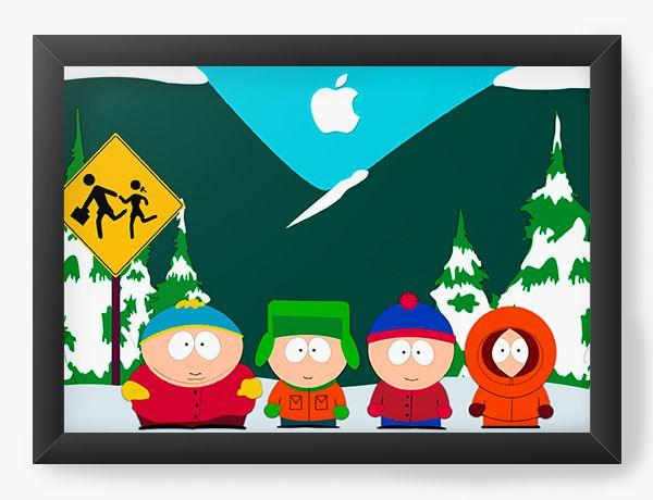Quadro Decorativo A4 (33X24) South Park Cold - Nerd e Geek - Presentes Criativos