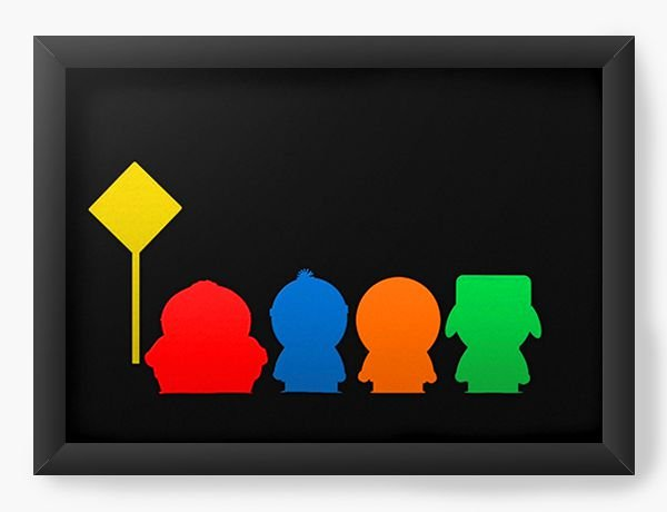 Quadro Decorativo A4 (33X24) South Park Colorful - Nerd e Geek - Presentes Criativos