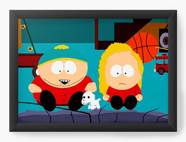 Quadro Decorativo South Park Watching TV