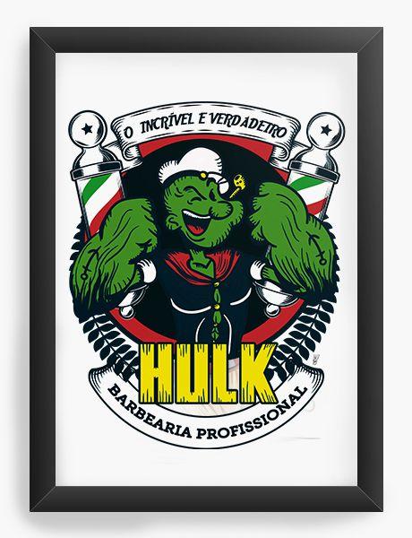 Quadro Decorativo Popeye Hulk