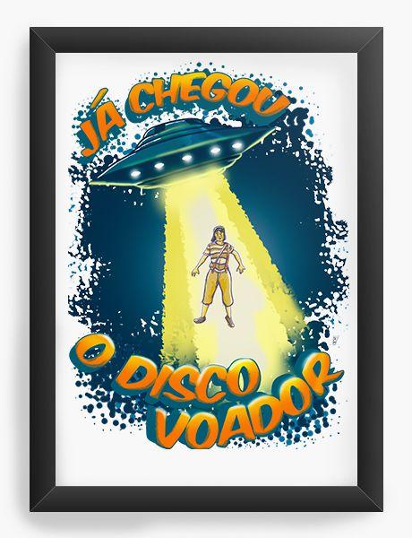 Quadro Decorativo Chaves Disco Voador - Nerd e Geek - Presentes Criativos