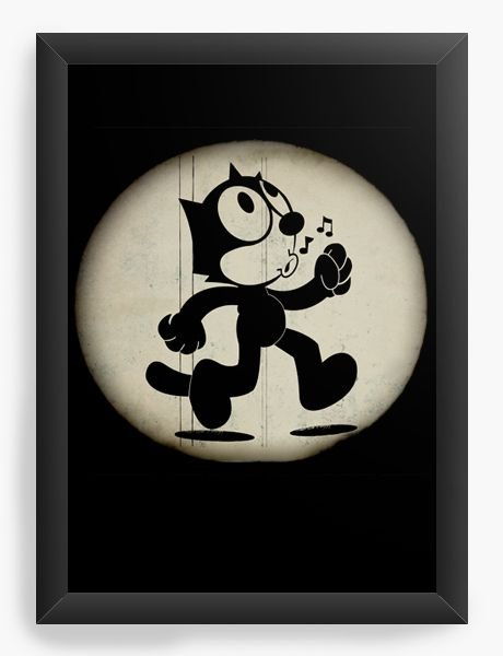 Quadro Decorativo A4 (33X24) Gato Felix - Nerd e Geek - Presentes Criativos