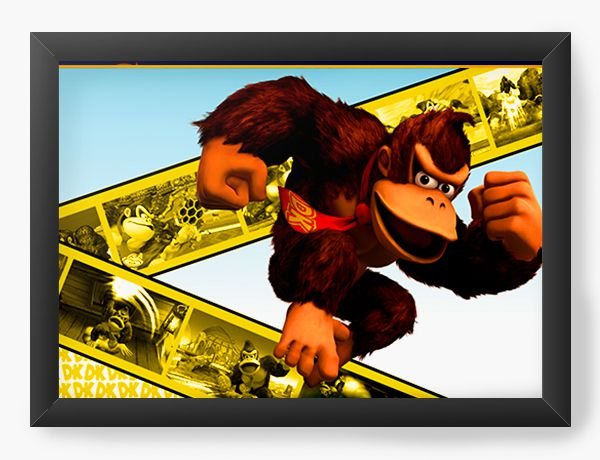 Quadro Decorativo Donkey Kong Movie