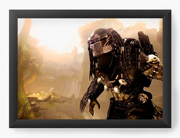 Quadro Decorativo Alien - Nerd e Geek - Presentes Criativos