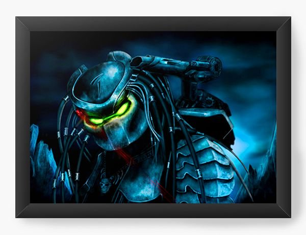 Quadro Decorativo Alien Dingy - Nerd e Geek - Presentes Criativos
