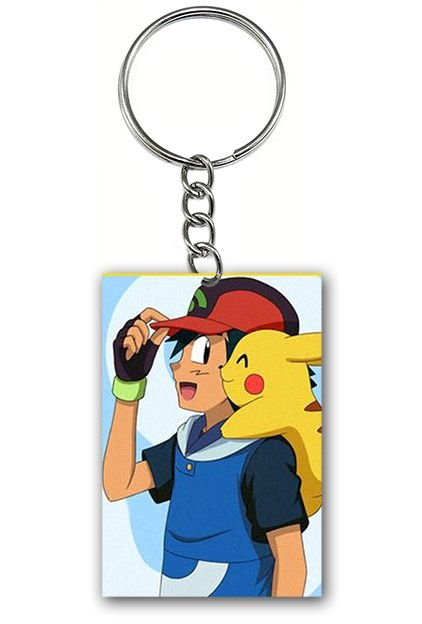 Chaveiro Pokemon - Pikachu e Ash