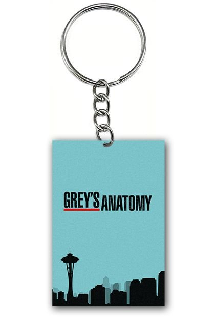 Chaveiro Grey's Anatomy - Serie - Nerd e Geek - Presentes Criativos