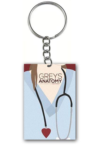 Chaveiro Grey's Anatomy - Serie - Nerd e Geek - Presentes Criativos
