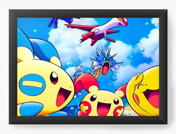 Quadro Decorativo Pokemon - Nerd e Geek - Presentes Criativos