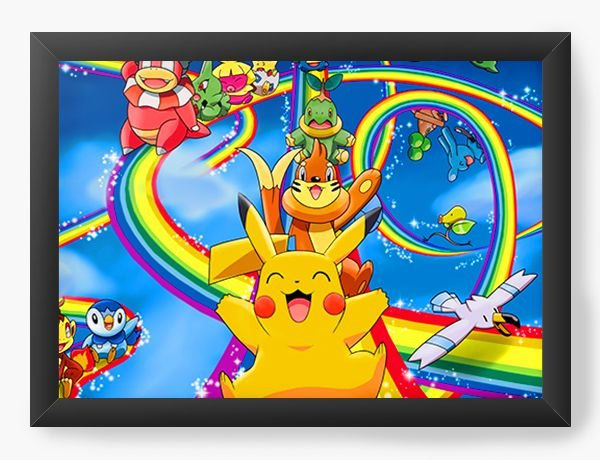 Quadro Decorativo Pokemon cute Pikachu - Nerd e Geek - Presentes Criativos