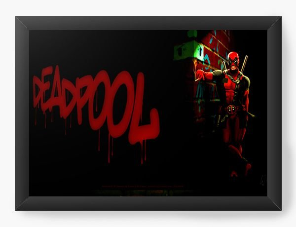 Quadro Decorativo Deadpool funny