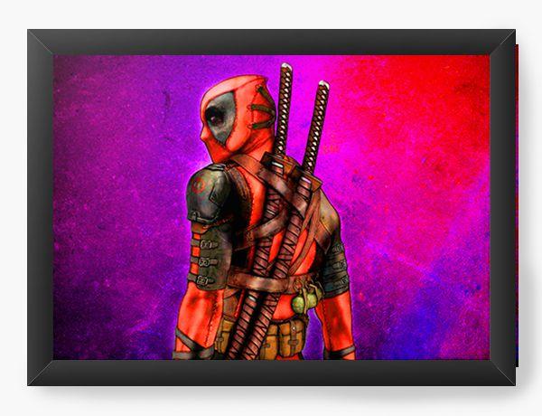 Quadro Decorativo Deadpool Ready for a Fight