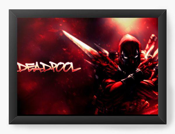 Quadro Decorativo Deadpool Red Version