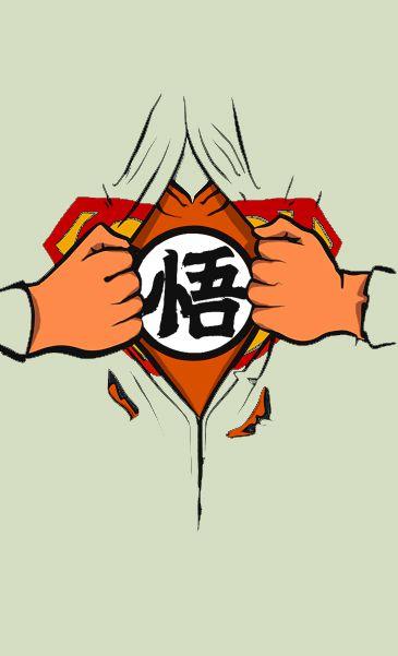 Camiseta Cinza  Superman Goku