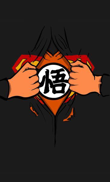 Camiseta  Superman  Goku Dragon Ball