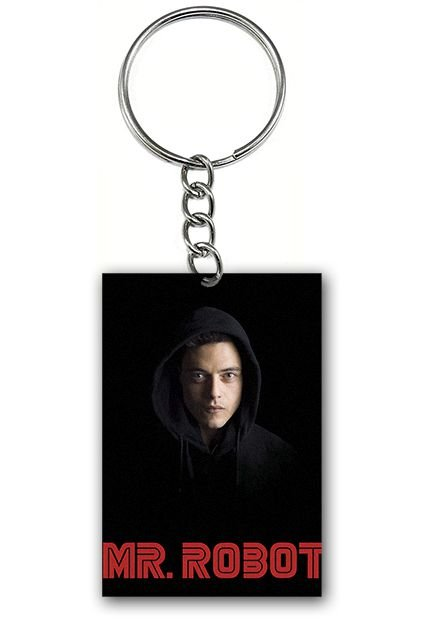 Chaveiro Mr Robot - Nerd e Geek - Presentes Criativos
