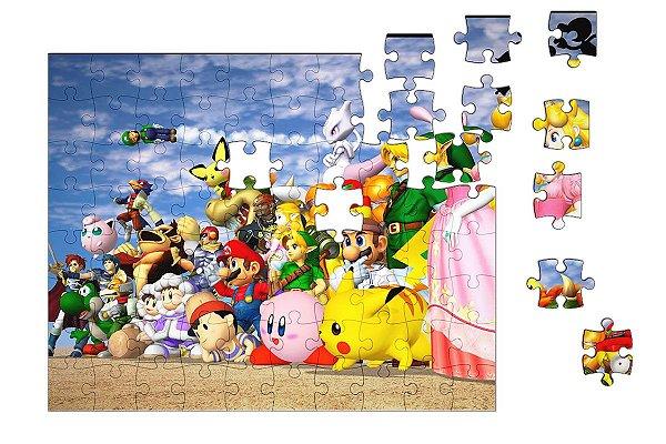 Quebra-Cabeça Super Mario Bros 90 pçs - Nerd e Geek - Presentes Criativos