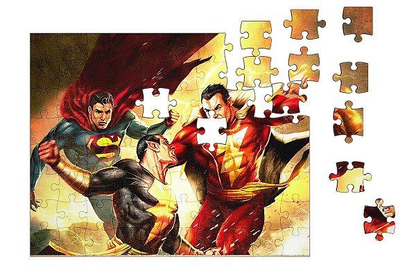 Quebra-Cabeça Super Men 90 pçs - Nerd e Geek - Presentes Criativos