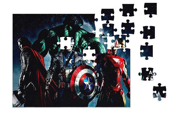 Quebra-Cabeça Os Vingadores 90 pçs