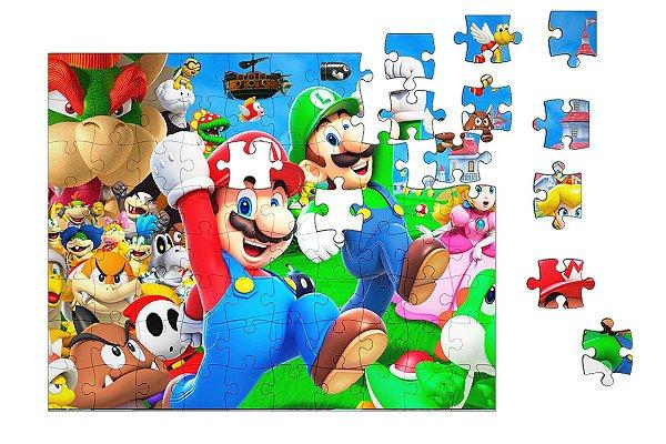 Quebra-Cabeça Super Mario Word 90 pçs