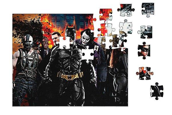 Quebra-Cabeça Batman and Vilhões 90 pçs - Nerd e Geek - Presentes Criativos