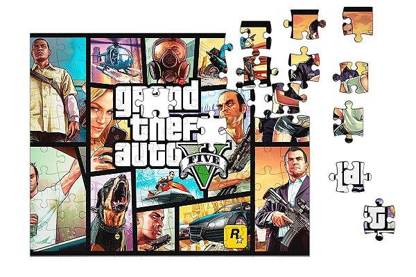 Quebra-Cabeça GTA Game 90 pçs - Nerd e Geek - Presentes Criativos