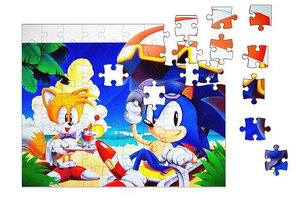 Quebra-Cabeça  Sonic 90 pçs - Nerd e Geek - Presentes Criativos