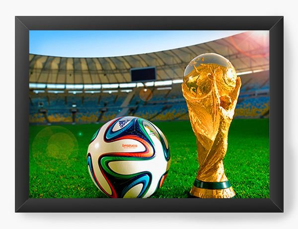 Quadro Decorativo World Cup - Nerd e Geek - Presentes Criativos