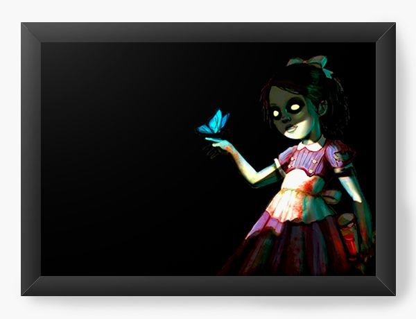 Quadro Decorativo BioShock Little Sister - Nerd e Geek - Presentes Criativos