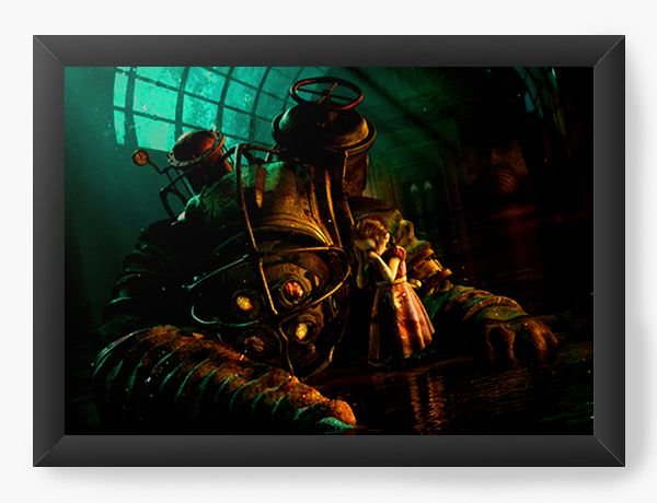 Quadro Decorativo BioShock - Always together - Nerd e Geek - Presentes Criativos