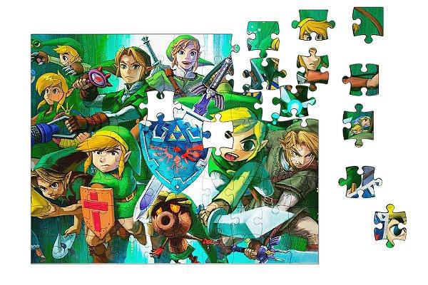 Quebra-Cabeça The Legend of Zelda 90 pçs - Nerd e Geek - Presentes Criativos