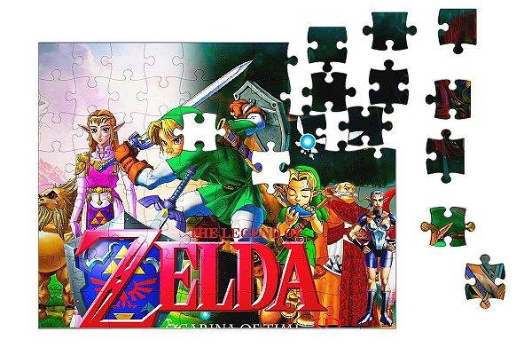 Quebra-Cabeça The Legend of Zelda - Link 90 pçs - Nerd e Geek - Presentes Criativos