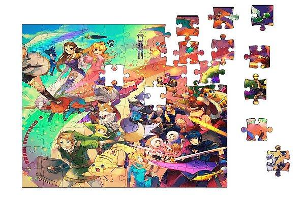 Quebra-Cabeça The Legend of Zelda e Final Fantasy 90 pçs - Nerd e Geek - Presentes Criativos
