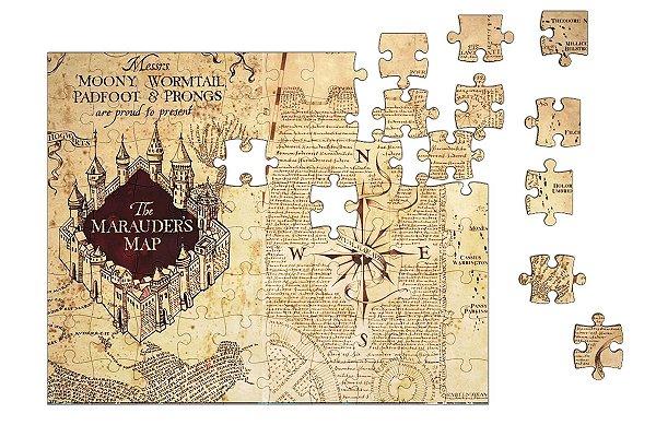 Quebra-Cabeça Harry Potter - Mapa 90 pçs - Nerd e Geek - Presentes Criativos