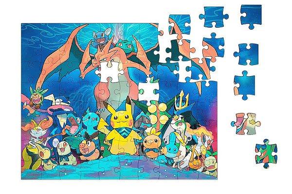 Quebra-Cabeça Pokemon 90 pçs - Nerd e Geek - Presentes Criativos