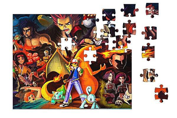 Quebra-Cabeça Pokemon - Ash 90 pçs - Nerd e Geek - Presentes Criativos