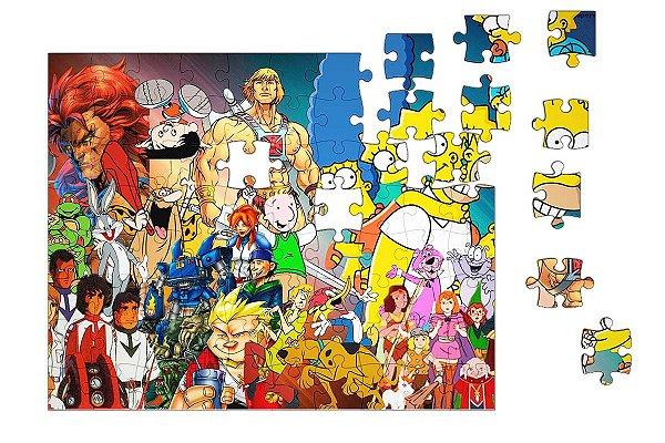 Quebra-Cabeça Simpsons, Scooby 90 pçs - Nerd e Geek - Presentes Criativos