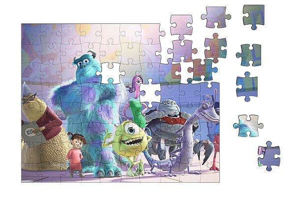 Quebra-Cabeça Monstro S.A 90 pçs - Nerd e Geek - Presentes Criativos