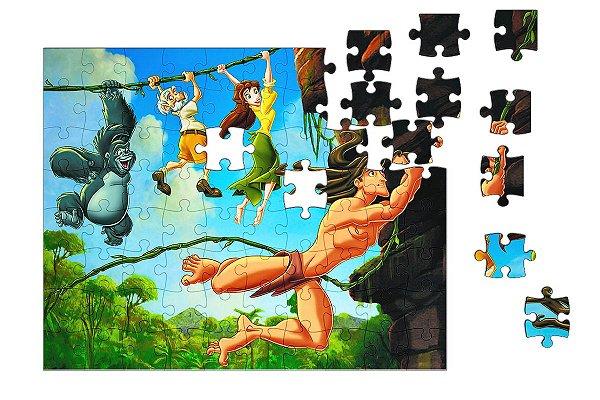 Quebra-Cabeça Tarzan 90 pçs - Nerd e Geek - Presentes Criativos
