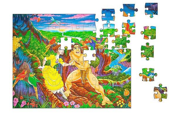 Quebra-Cabeça Tarzan e Jane 90 pçs