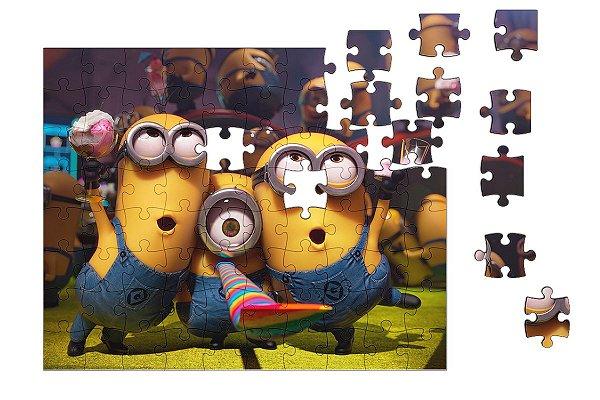 Quebra-Cabeça Minions 90 pçs - Nerd e Geek - Presentes Criativos