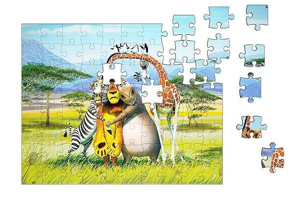 Quebra-Cabeça Madagascar 90 pçs - Nerd e Geek - Presentes Criativos
