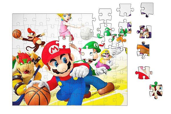 Quebra-Cabeça Super Mario Word - Game 90 pçs - Nerd e Geek - Presentes Criativos