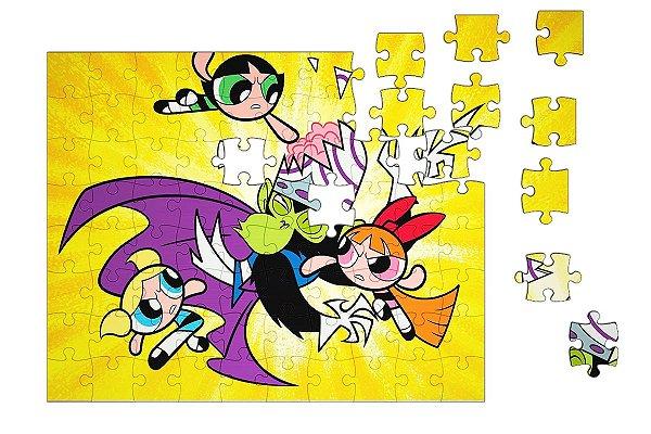 Quebra-Cabeça Super Poderosas pçs 90 - Nerd e Geek - Presentes Criativos