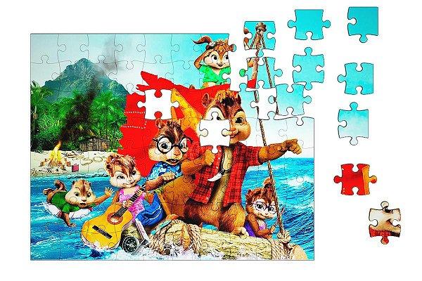 Quebra-Cabeça Os Esquilos 90 pçs - Nerd e Geek - Presentes Criativos